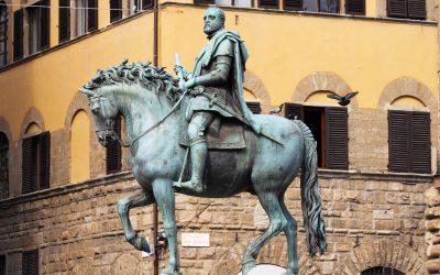 Statuina equestre di Cosimo - saribags Impression