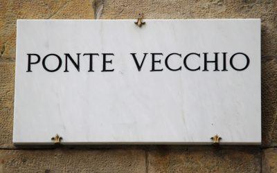 Eingang von Ponte Vecchio for saribags