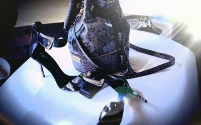 saribags - Penelope Python grau/schwarz