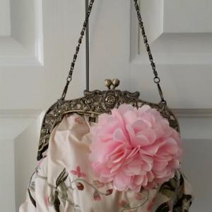 saribags - Bella mit rosa Blütenstickerei