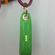 saribags - Lederanhänger Flavio grün