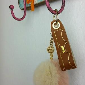 Schlüsselanhänger braun