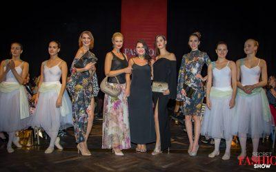Foto vom Finale mit Models, Tänzerinnen und Designerin Sara Leupold